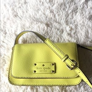 Kate Spade yellow crossover-shoulder bag-New